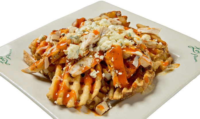 Buffalo Chicken Baked Cheese Fries