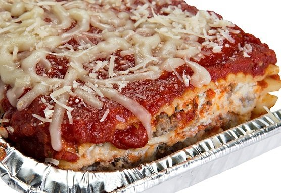 Photo of catering lasagna
