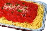 Photo of catering size spaghetti