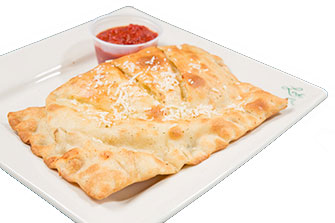 Photo of uncut Buffalo Calzone