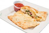 Photo of cut Veggie Calzone