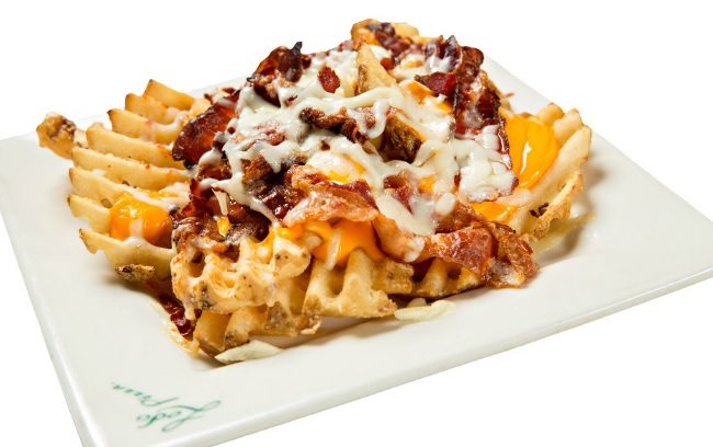baked cheese fries with bacon