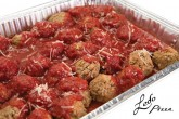 photo of catering size meatballs