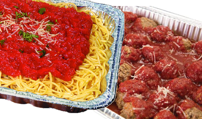 Photo of catering spaghetti and meatballs