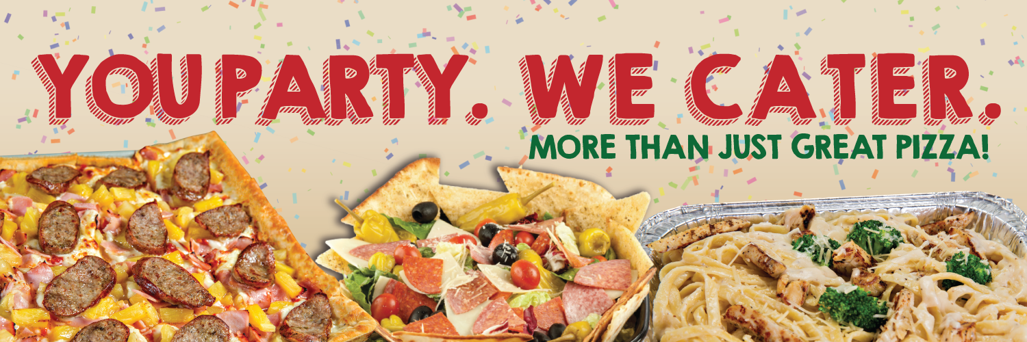 You Party, We Catering - Graphic Text
