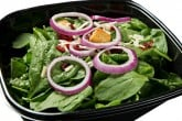 Photo of spinach salad catering