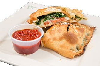Photo of cut White Florentine Calzone