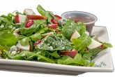 Photo of Fall Harvest Salad with a side of dressing