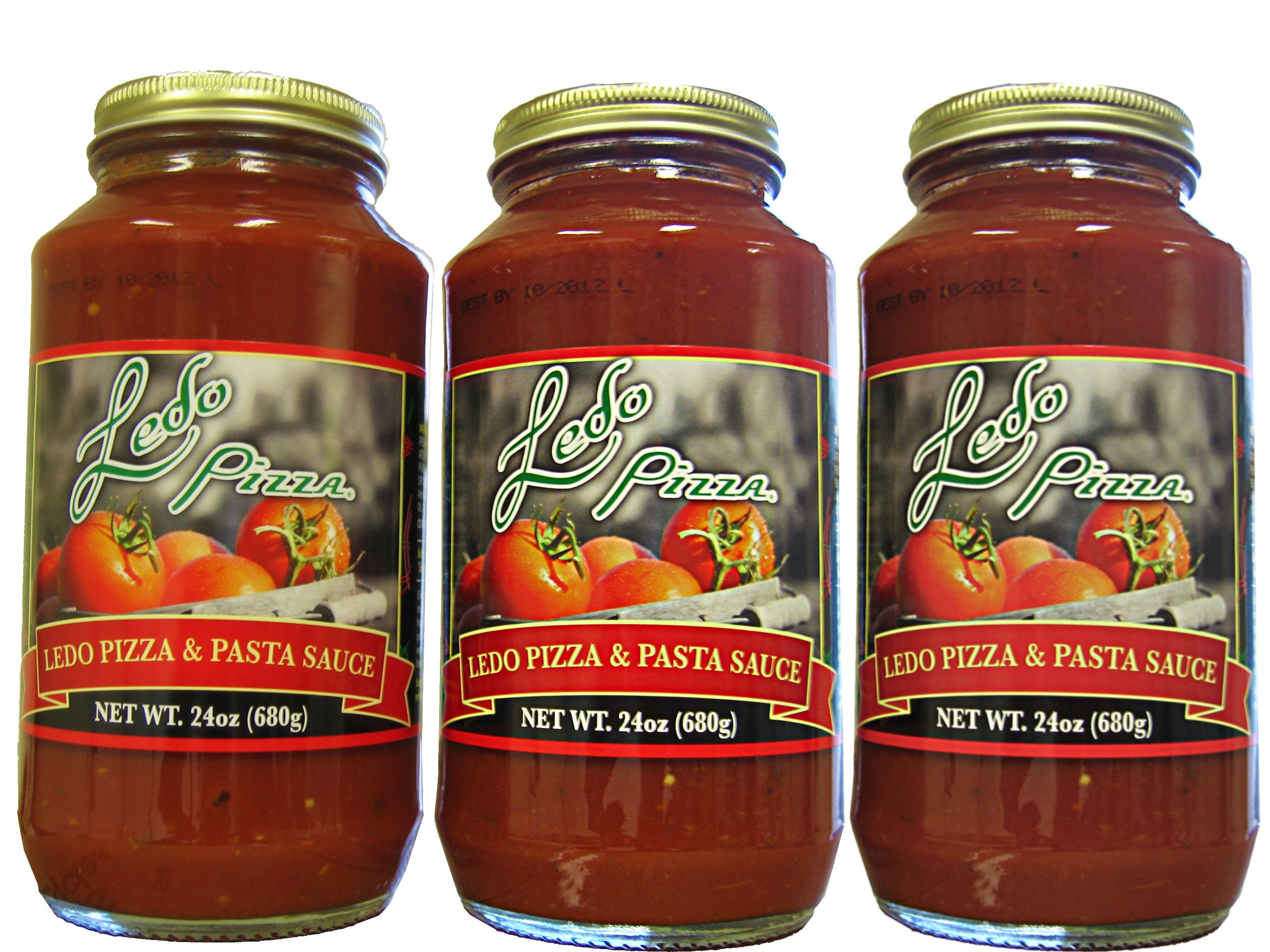 Photo of 3 Ledo Pizza Sauce Jars