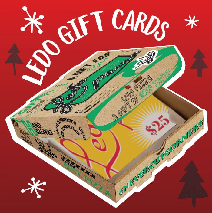Ledo Pizza Gift Card in Mini Pizza Box